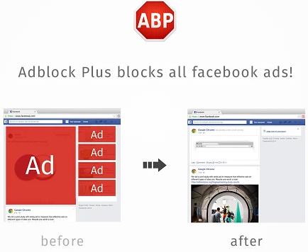 Block Facebook Ads with Adblock Plus
