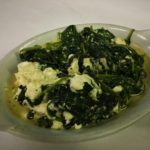 Sautéed Spinach with Goat Cheese