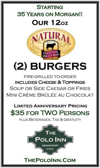 35 Years on Morgan 12oz Burger ad