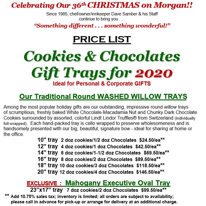 Cookie Price LIst 11-15-2020