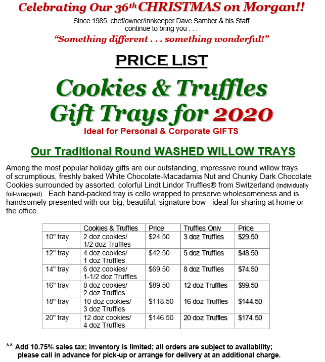 Cookie Tray w.Truffle Prices