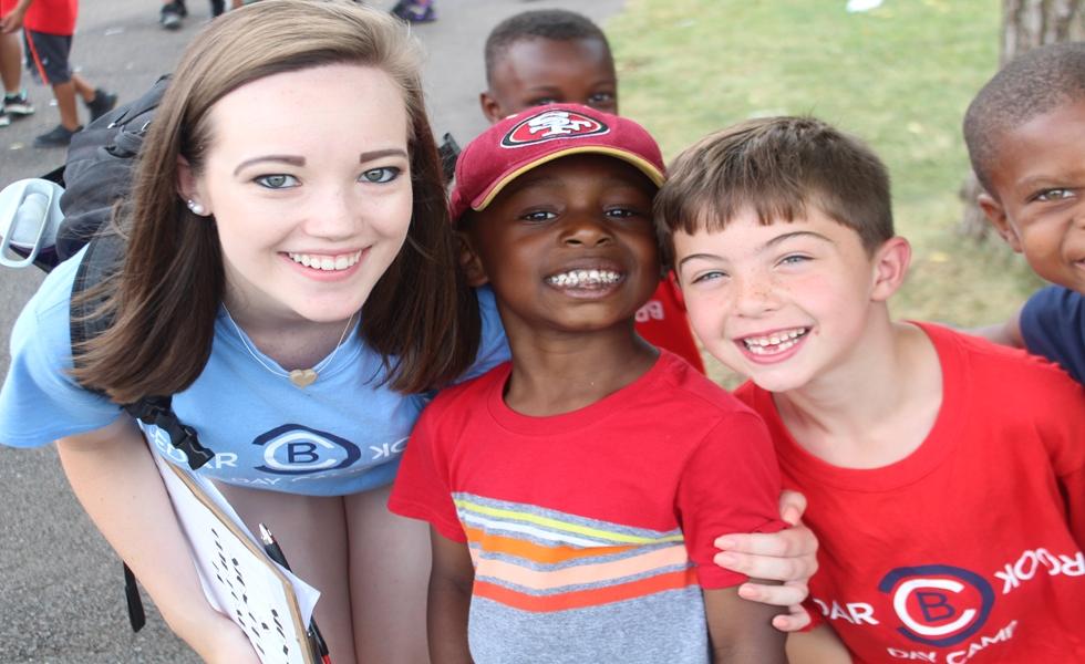 Cedarbrook Day Camp Kids and counselor