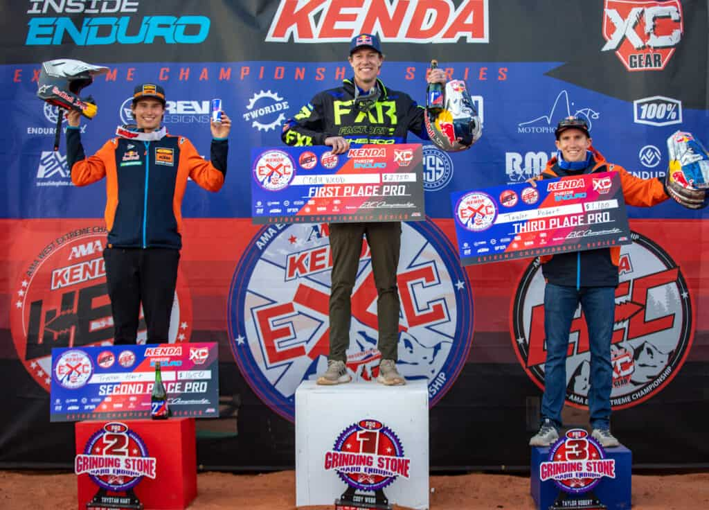 Cody Webb and Louise Forsley win Grinding Stone Hard Enduro