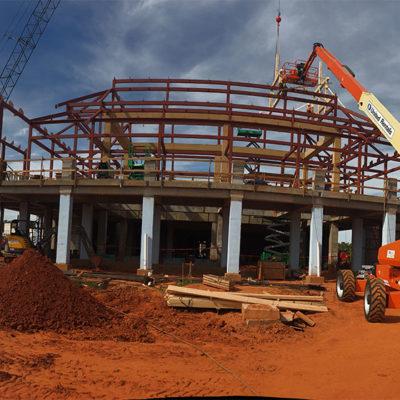 panoramic shot of construction