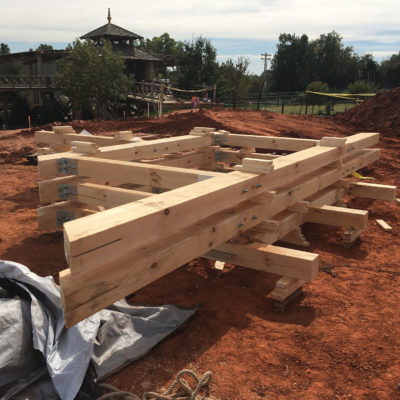 timber framing used for construction