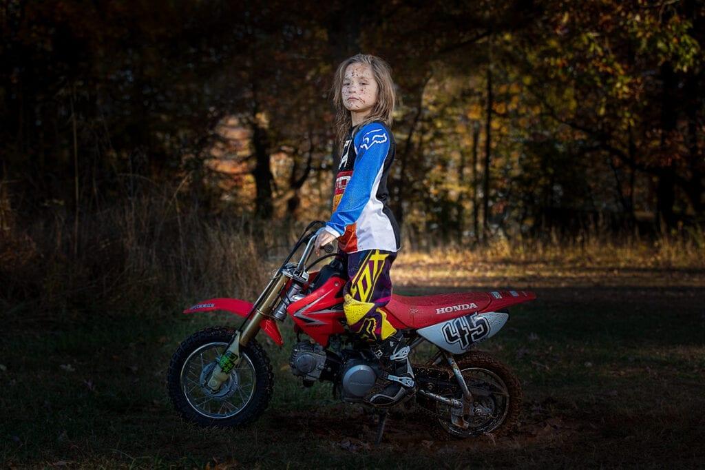 Boy on dirt bike