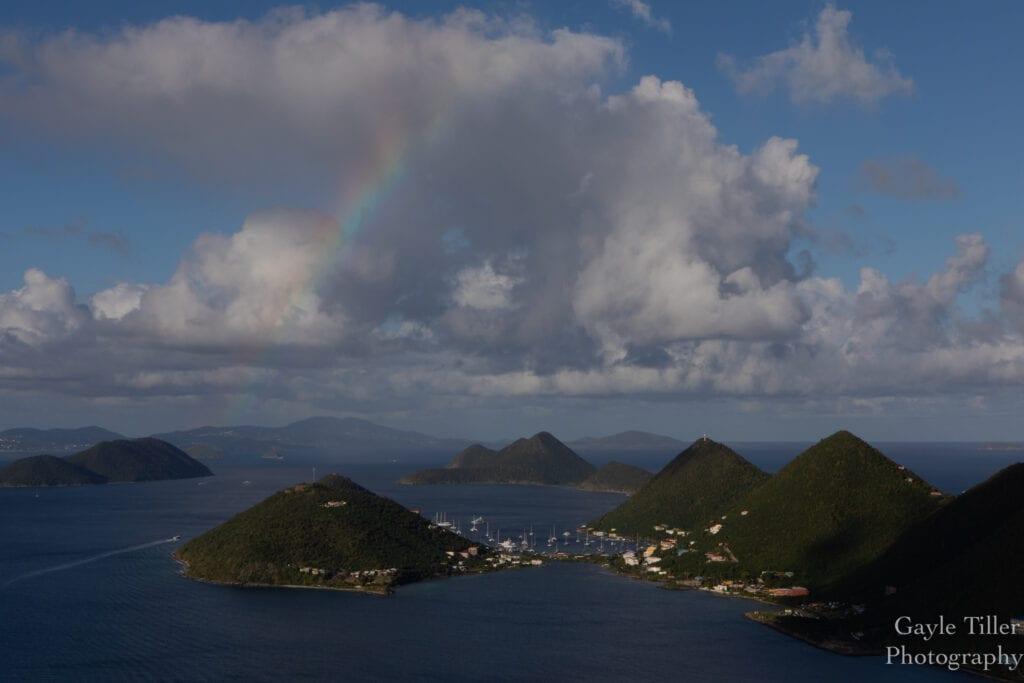 Tortola British Virgin Islands, rainbow photos