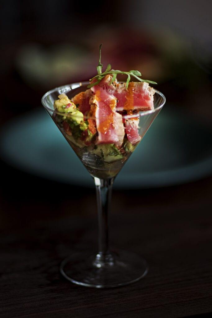 nccoastobx, tuna sashimi, NC Coast Bar and Grill Duck, NC