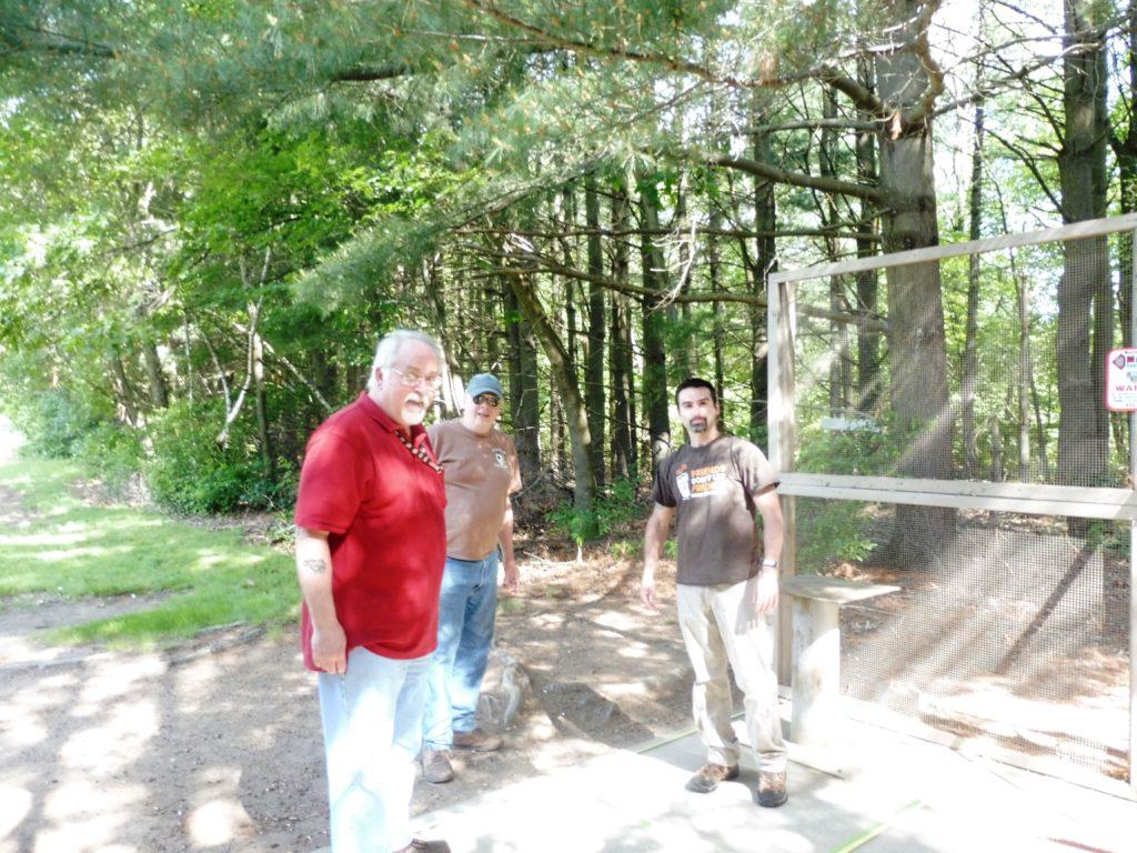 Bill, Allen & Jeff marking pistol port locations