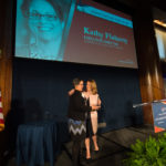 Kathy Flaherty accepting award