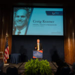 Craig Kramer introducing the Corporation of the Year Award to EY