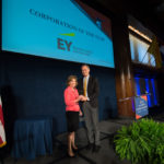 EY accepting the Corporation of the Year Award
