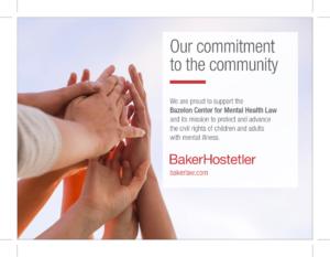 Baker Hostetler supports Bazelon Center for Mental Health Law