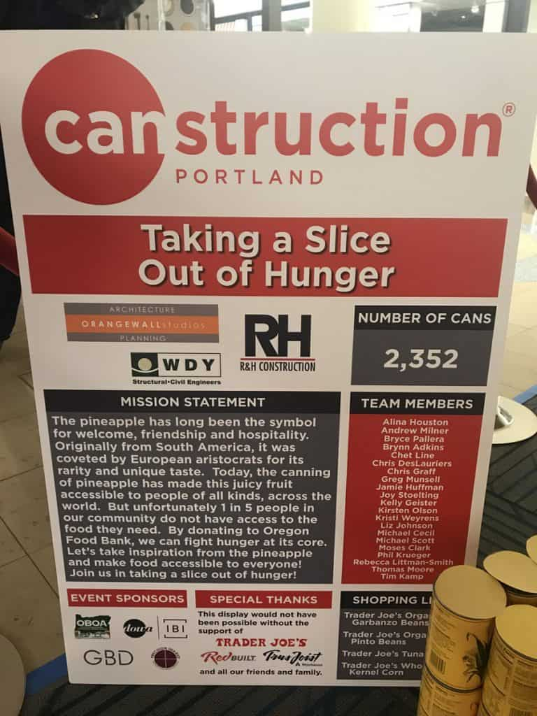 Canstruction Food Drive 2017