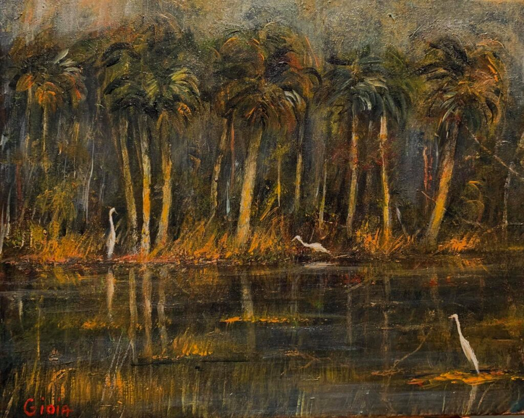 Palms with Egrets at St. Marks