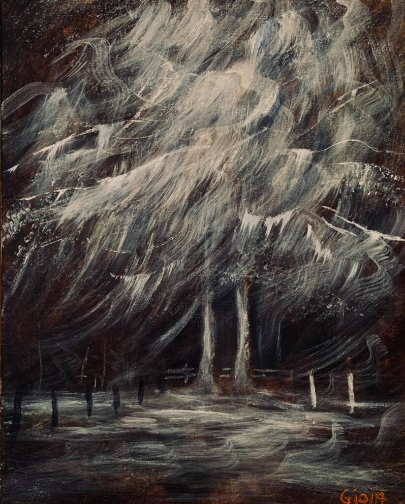 gothic painting of tree