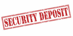 security deposit stamp