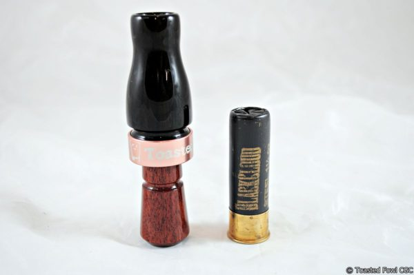 Straight Shot Mallard Call - African Blackwood & Jatoba - Upright