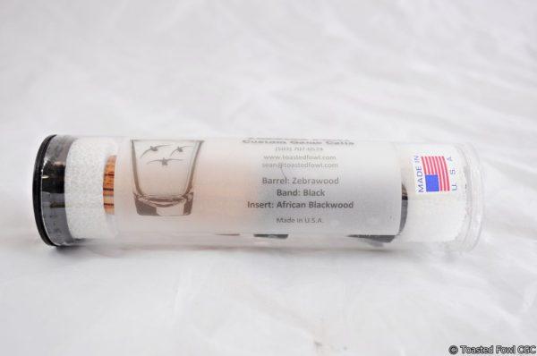 SSM-0042 Zebrawood-Black-African Blackwood Tube