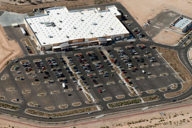 Arial view of a Walmart Supercenter