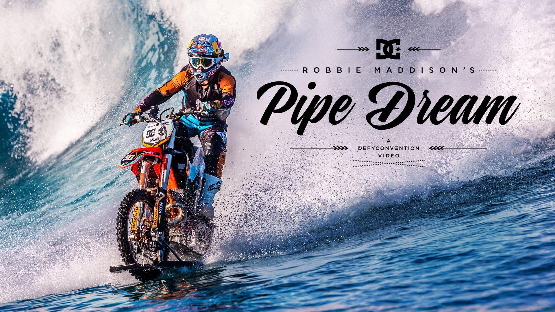 Robbie Madison Surfs Insane Wave…On His Dirtbike