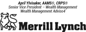 Merrill Lynch, April Ylvisaker