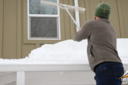 Winter roof snow removal