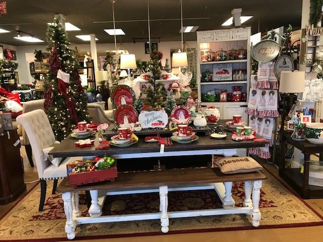christmas farm table