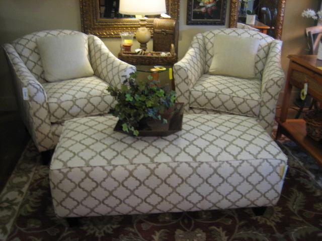 Enhance Linen Grouping -  Chairs ; Ottoman