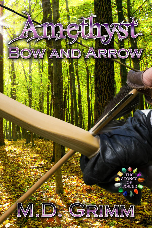 COVER Book 3 - Amethyst Bow and Arrow - The Stones of Power series