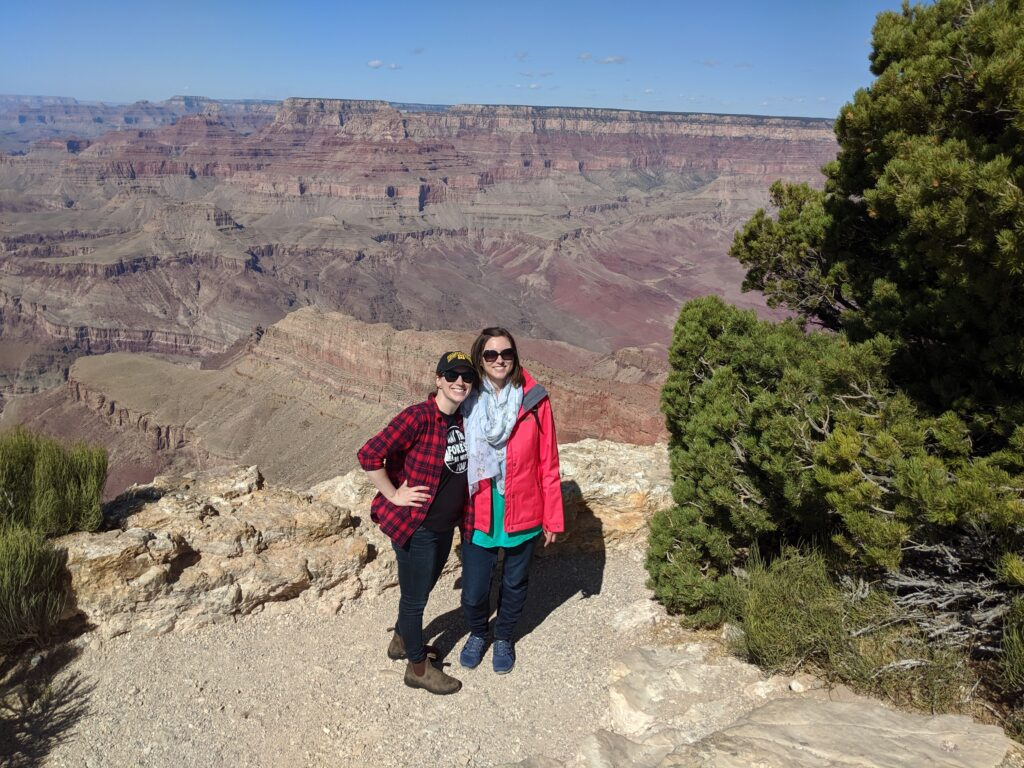 I got to visit the Grand Canyon with my friend Tonia.