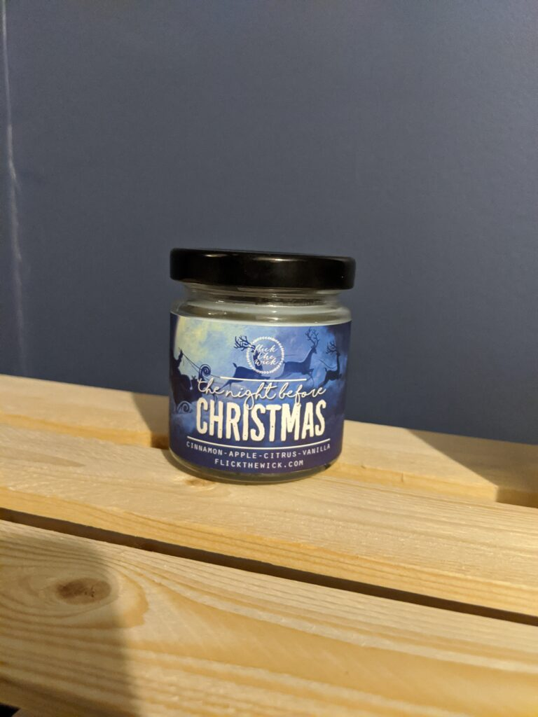 Day 5: The Night Before Christmas scented candle. It smells amazing, like cinnamon-apple-citrus-vanilla.