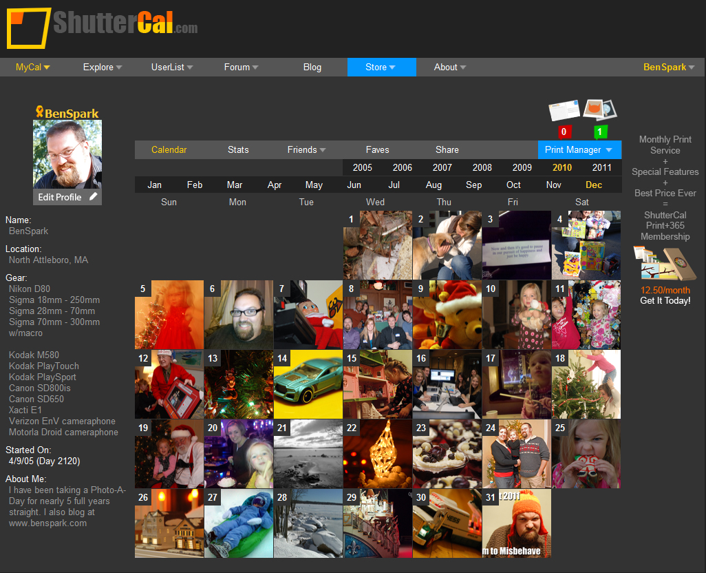 ShutterCal is the only place to truly experience 365