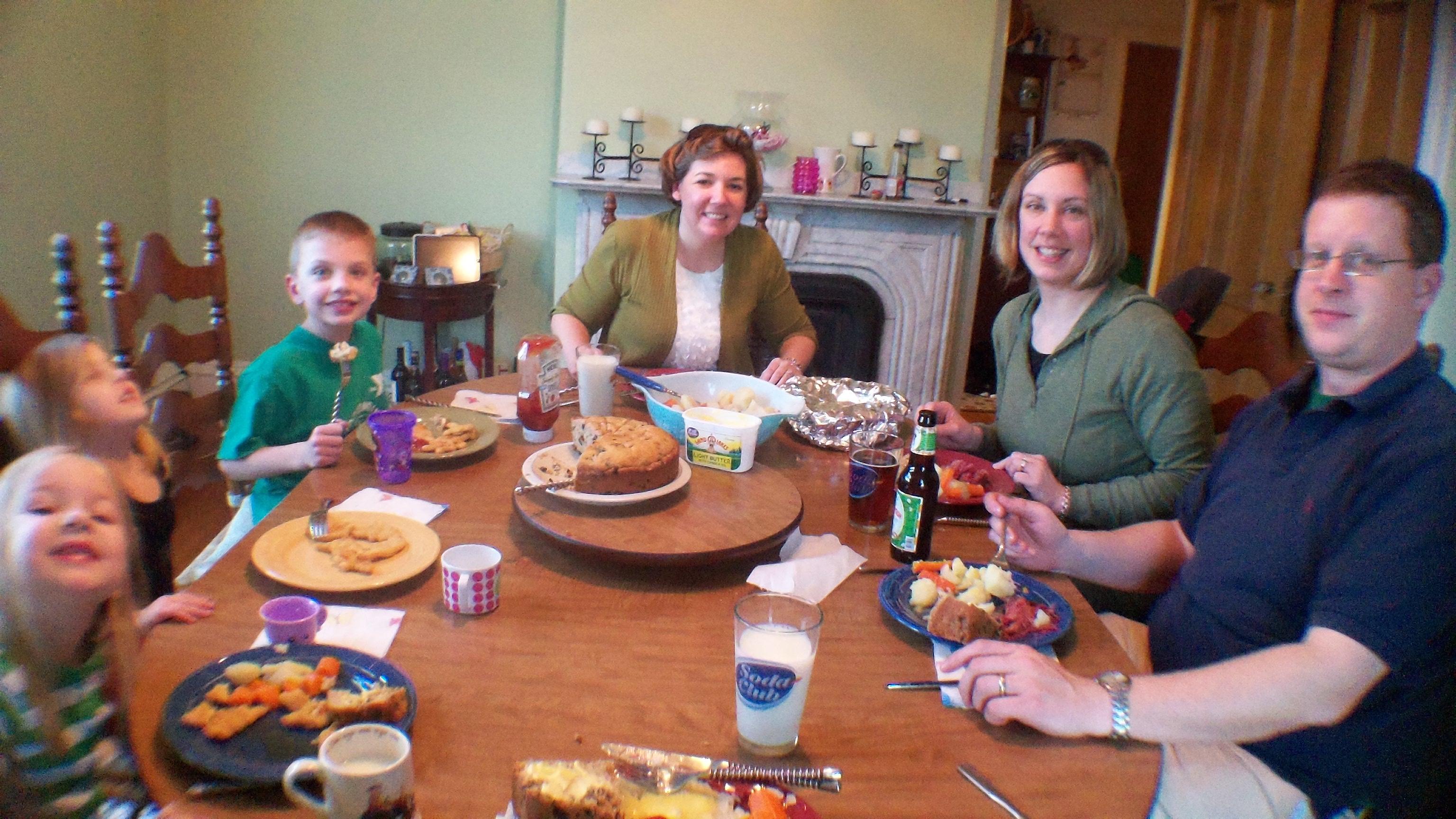Saint Patrick's Day Dinner