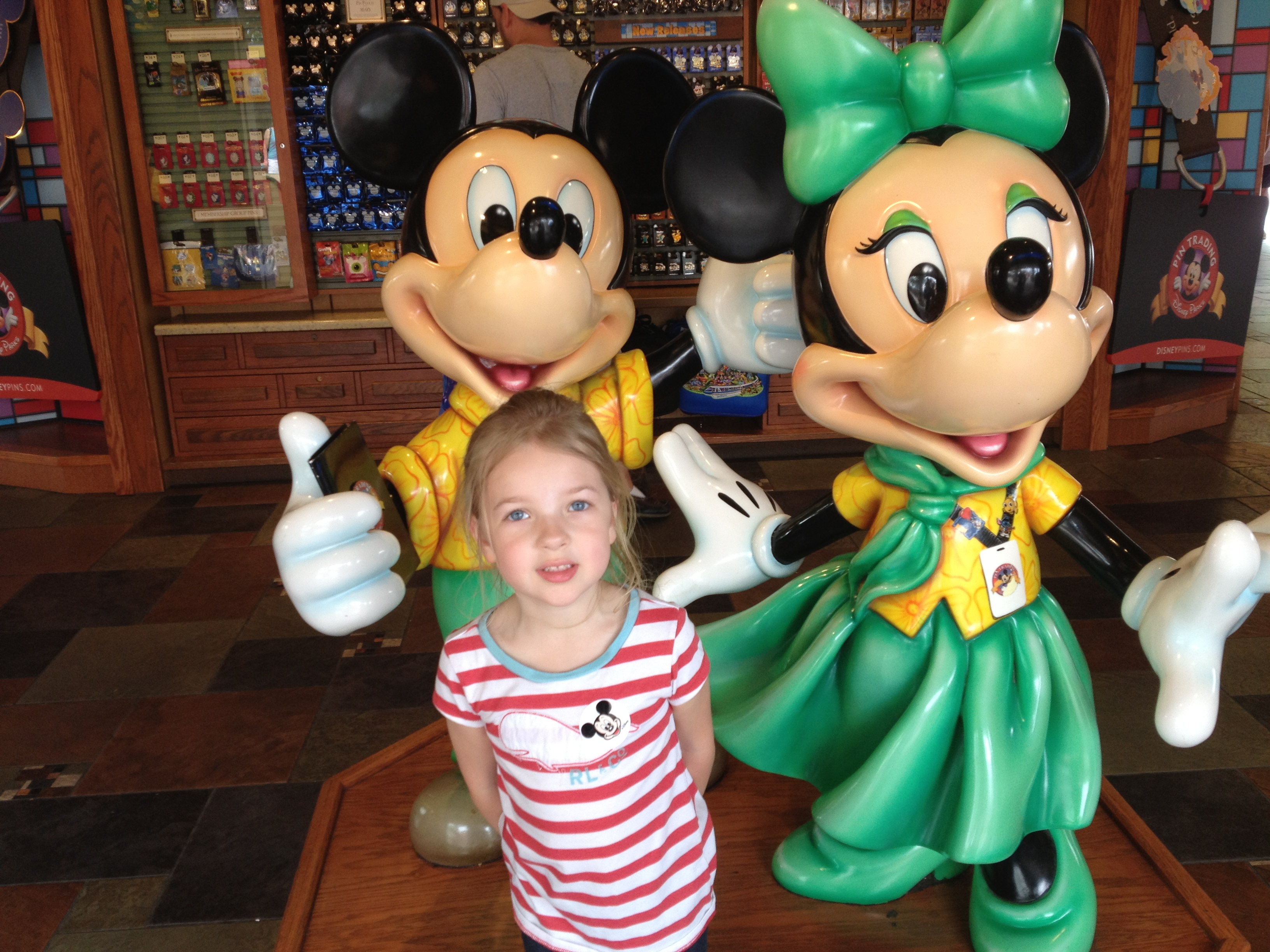With Mickey and Minnie