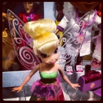 At #timetoplay Tinkerbell can recognize color (Think Lite Sprites Tech) and the color changes her wing color. Notice Cinderella's Evil Stepmother in the background. Part of an exclusive #Disney store set that includes the Wicked Stepsisters too.