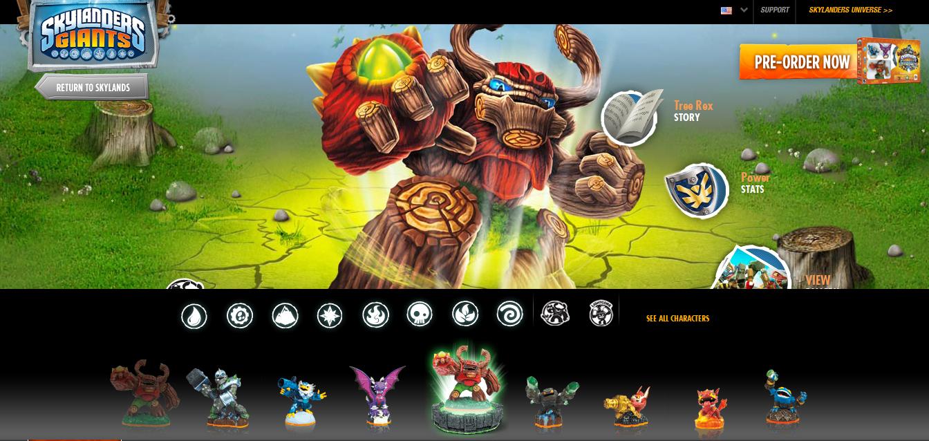 Skylanders Website Updated with ALL the New Skylanders Giants Figures
