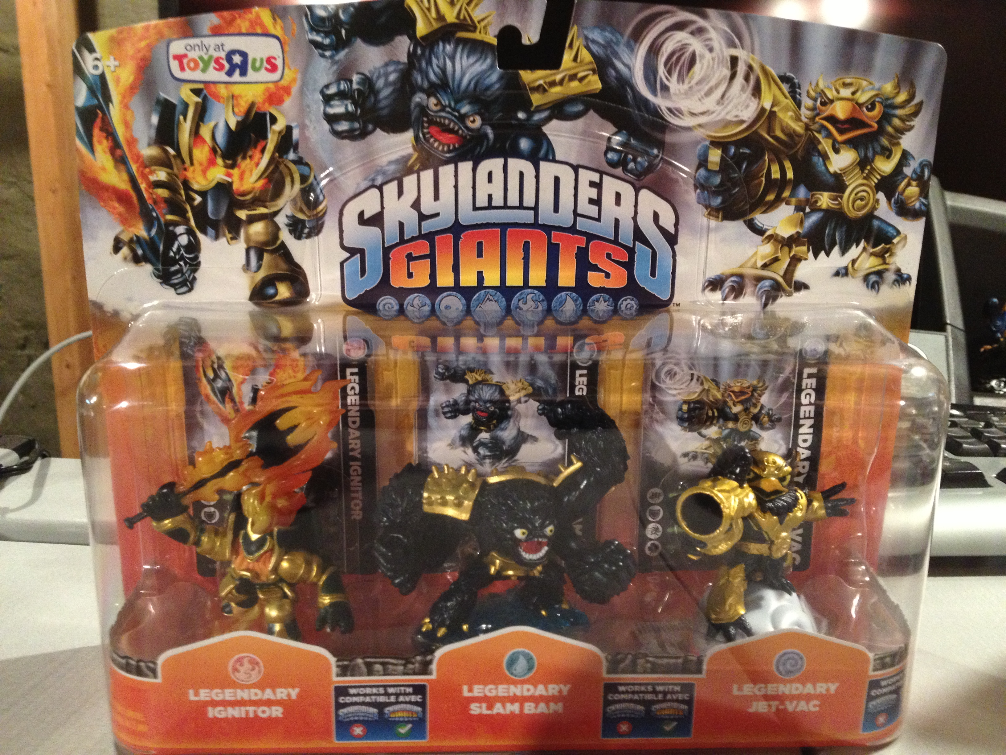 Legendary Skylanders Giants Figures - Slam Bam, Jet Vac and Ignitor