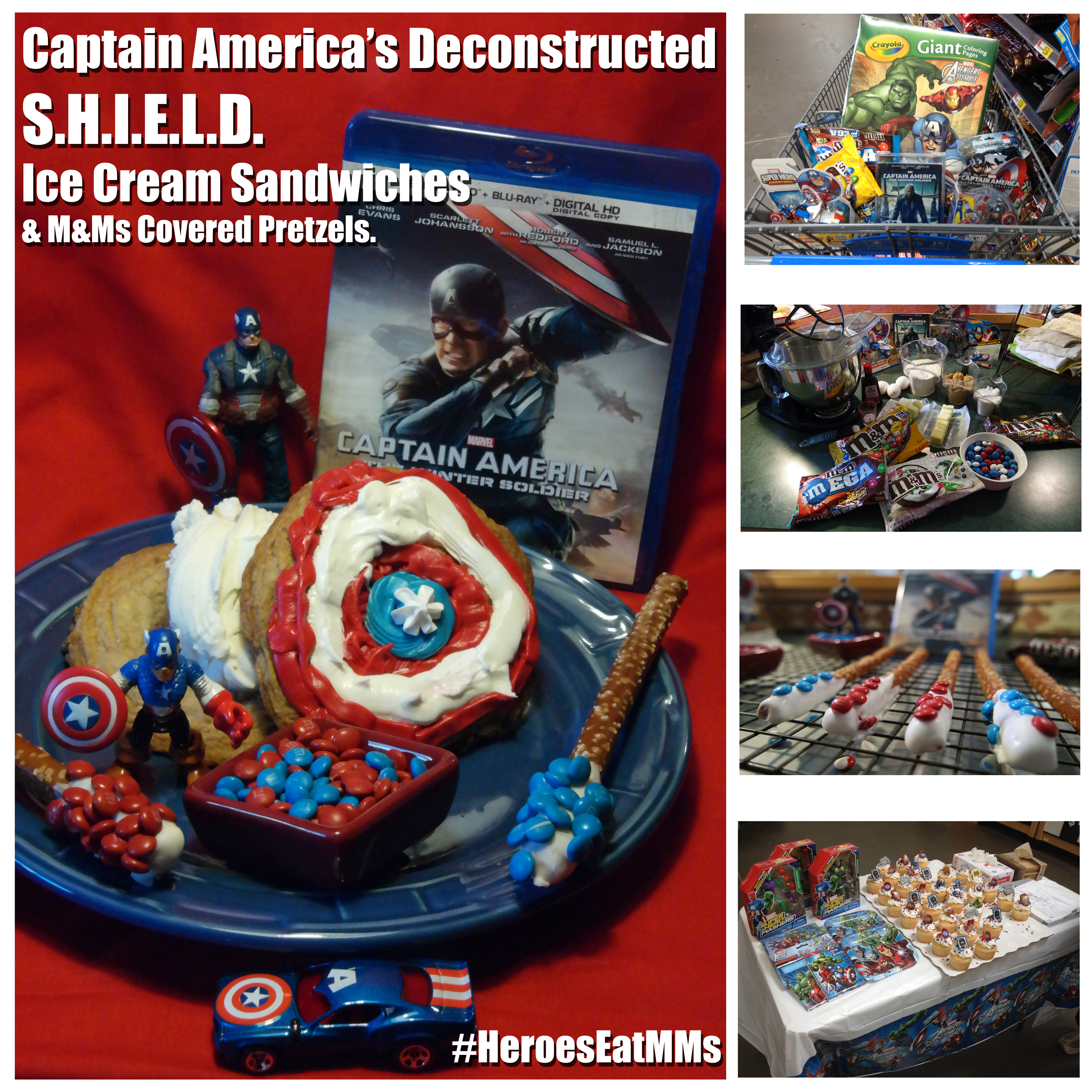 #HeroesEatMMs with Captain America's Deconstructed S.H.I.E.L.D. M&M's Cookie Ice Cream Sandwiches