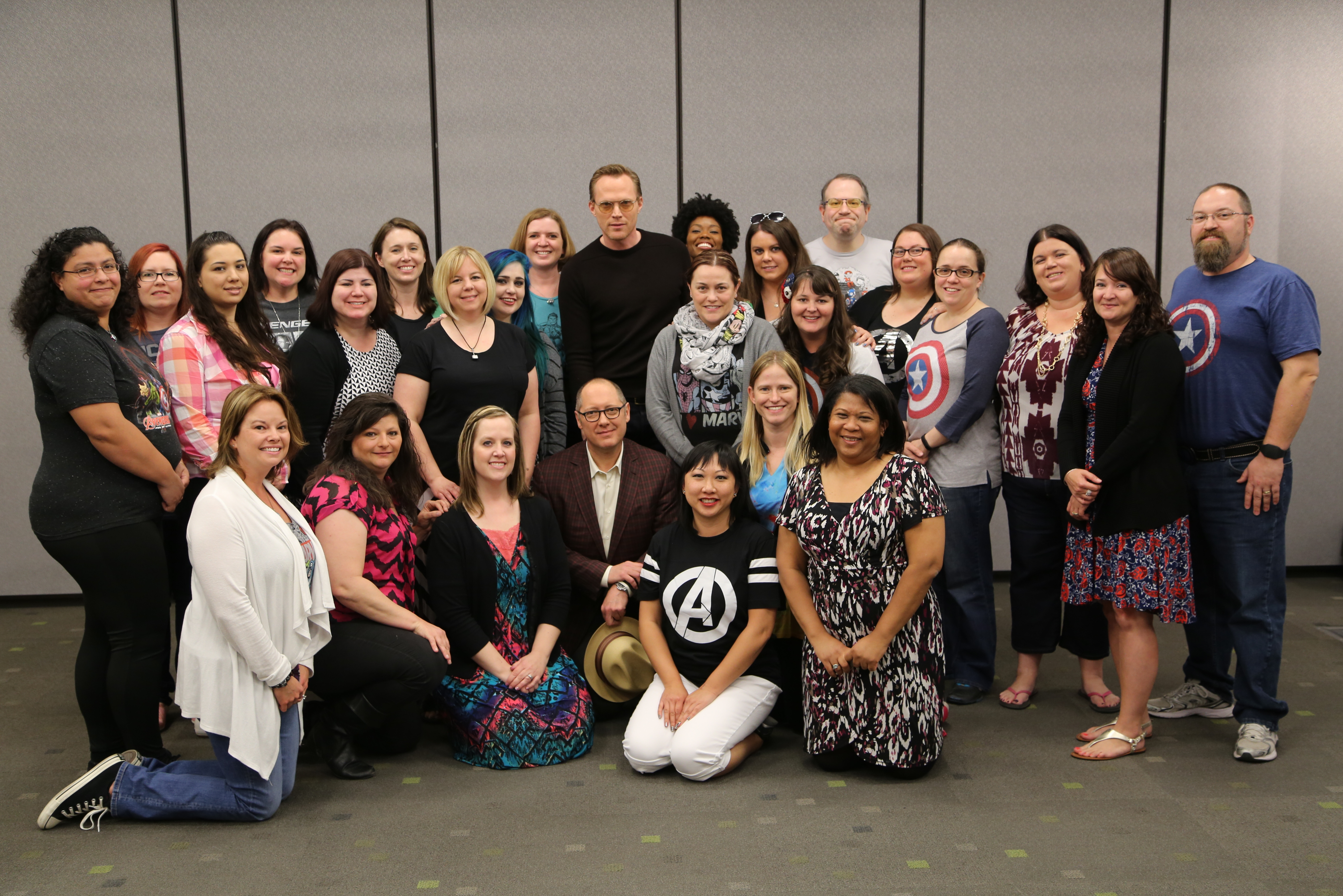 Paul and James with 25 #AvengersEvent Bloggers - Photo Credit - Disney