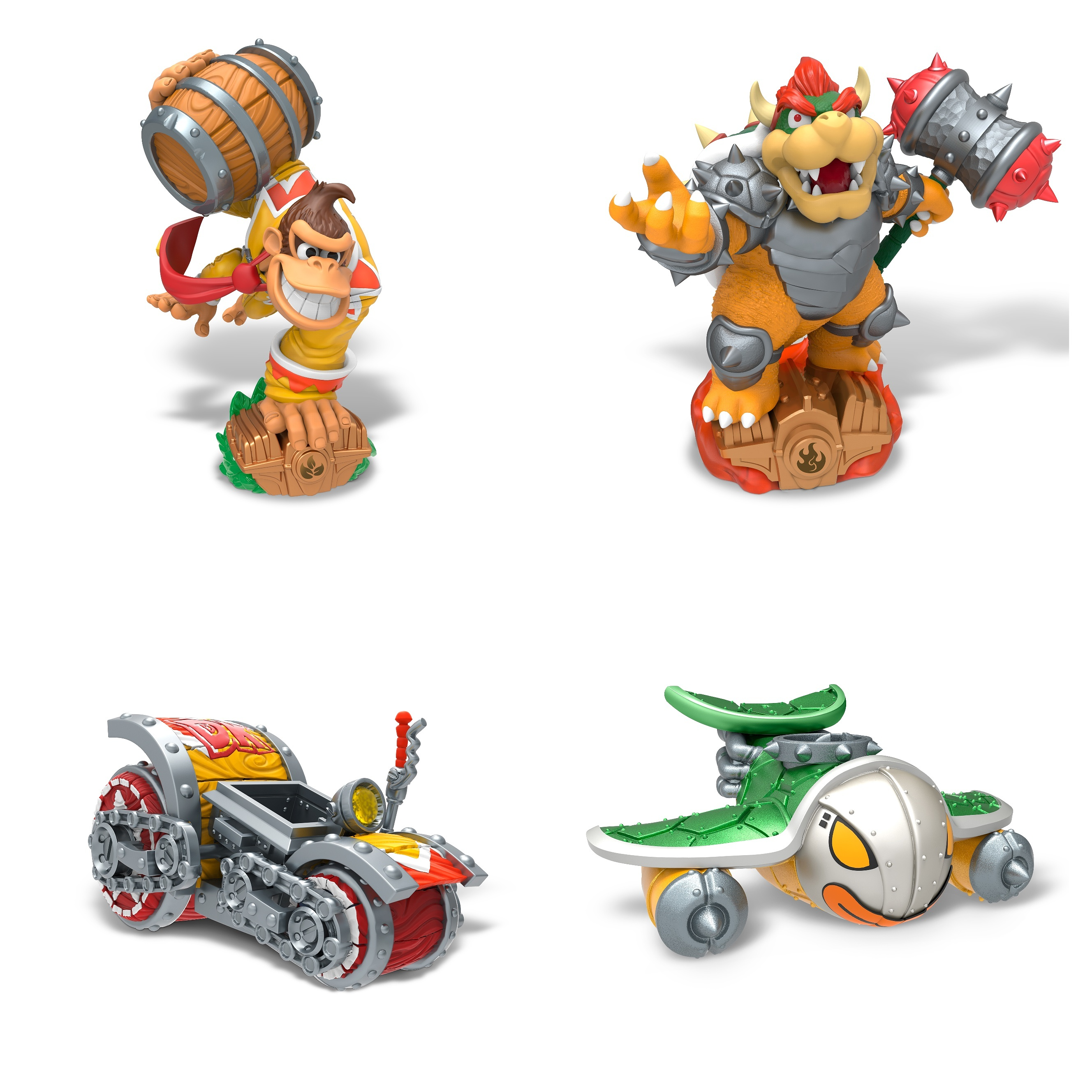 Donkey Kong and Bowser in Skylanders Superchargers