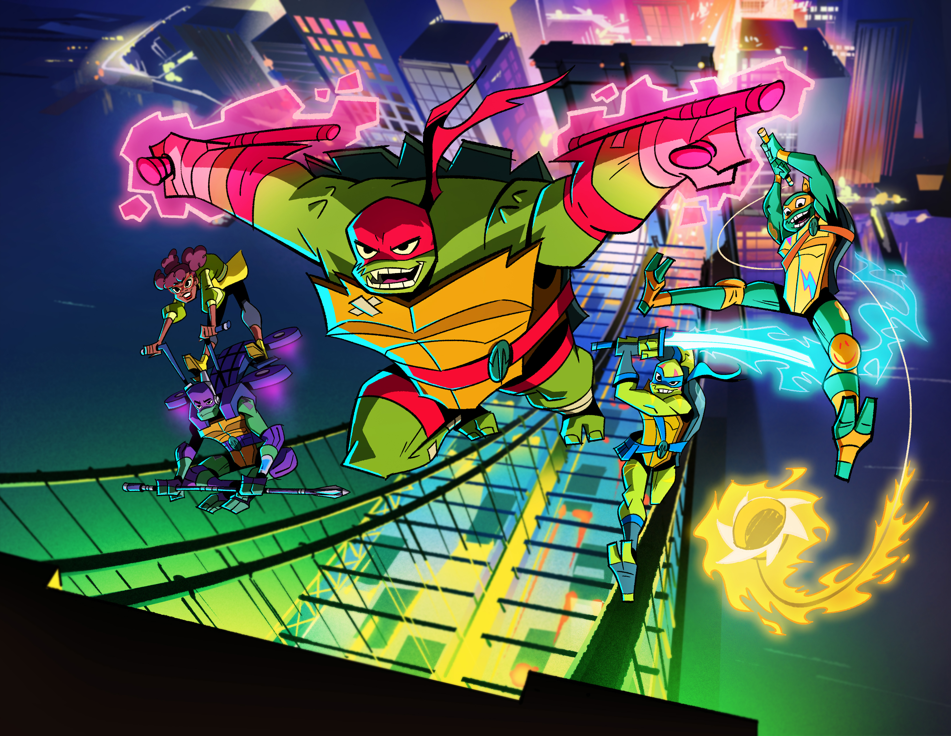 Rise of the Teenage Mutant Ninja Turtles Character Art Revealed