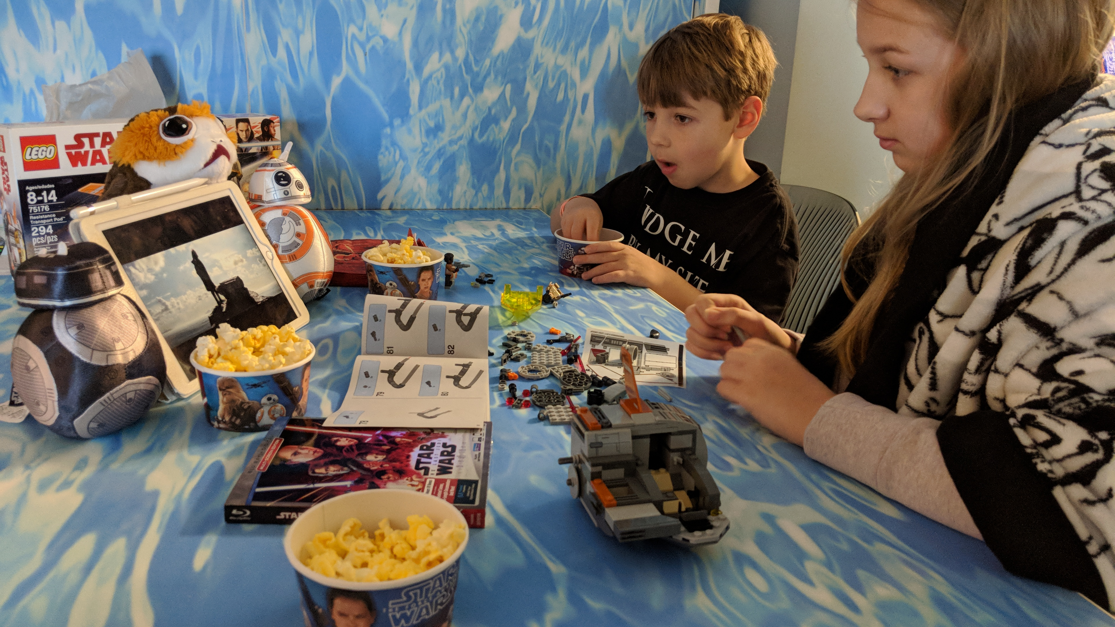 We had a Star Wars: The Last Jedi Viewing Party While on Vacation