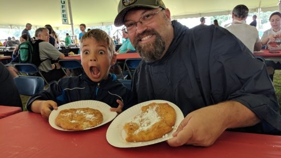 Andrew and I with Fried Dough