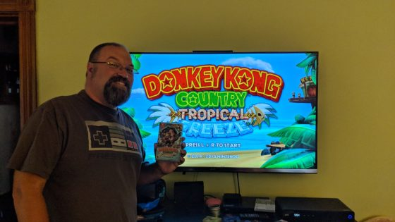 Me with Donkey Kong Country Tropical Freeze on the Nintendo Switch
