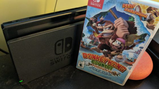 Our copy of Donkey Kong Country Tropical Freeze on the Nintendo Switch