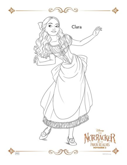 The Nutcracker Clara Coloring Pages