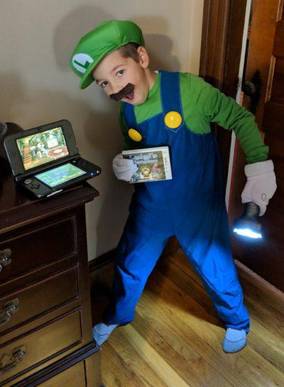 Andrew as Luigi