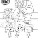 Ralph Breaks The Internet Coloring Page Ralph and Vanellope