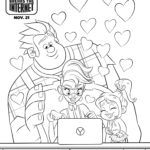 Ralph Breaks The Internet Coloring Page Yesss